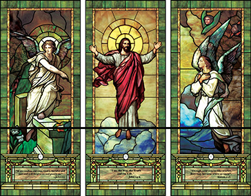 triptych Jesus decorative  window film design