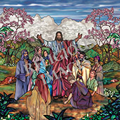 decorative church mural design Come unto Me