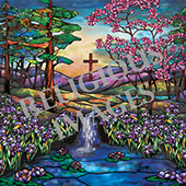 fountain of life decorative church mural