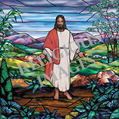 Jesus decorative  window film design