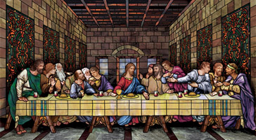 last supper decorative  window film design mural