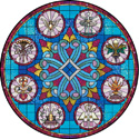 7 sacraments catholic decorative stained glass window film design