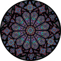 cathedral rose window decorative stained glass window film decal design