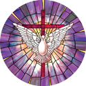 radiant dove decorative stained glass window cling film design