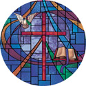 geometric cross circle decorative stained glass window film appliqué design