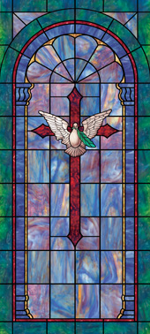 Decorative stained glass cross