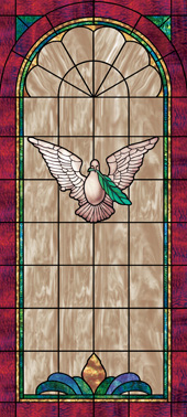 Decorative stained glass church window film decals designs IN4
