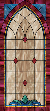 Decorative stained glass church window film wallpaper designs IN10