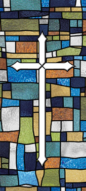 Decorative stained glass church window art film designs IN15