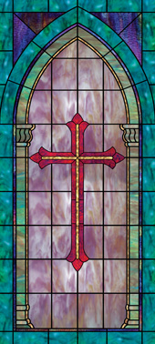 Church window film cross
