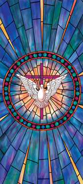Decorative stained glass church window film coverings designs IN31