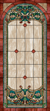 Decorative stained glass church window film coverings designs IN35