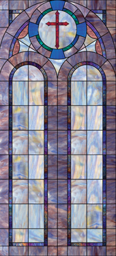 Decorative church window decal design