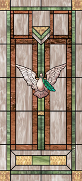 Decorative stained glass church window art film design