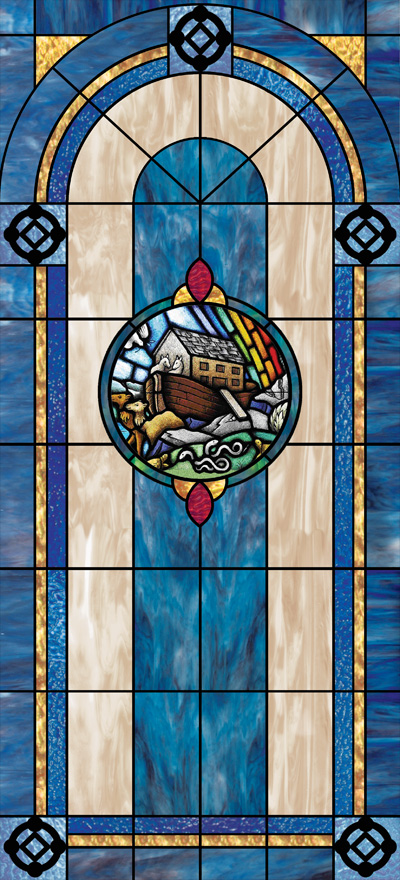 decorative stained glass window wallpaper film design