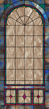 church stained glass window film design