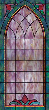 decorative church stained glass window clings