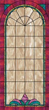 decorative stained glass window film design