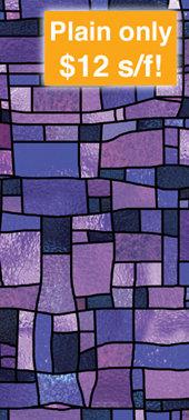 church stained glass decorative window film covering