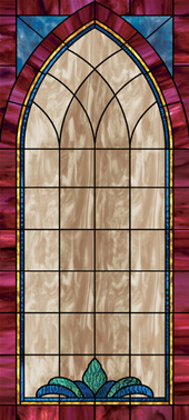 church stained glass decorative window film design