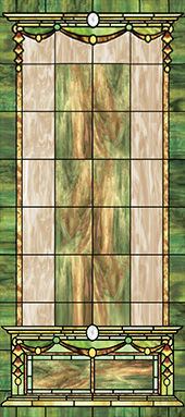 decorative stained glass window film desig