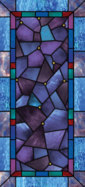 decorative stained glass wallpaper film for church windows