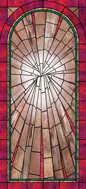 church stained glass decorative window UV film covering design