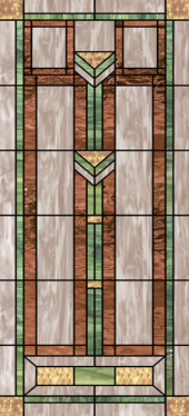 stained glass decorative church window decal film Design
