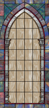 decorative stained glass wallpaper film for church windows design