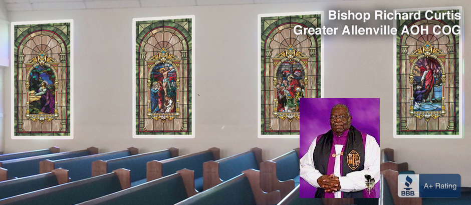 modern decorative stained glass window film designs for churches
