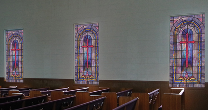 decorative stained glass church window film gallery